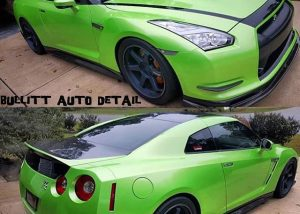 Nissan GT-R wrapped in Avery SW900-777 Light Green Pearlescent