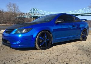 Chevrolet wrapped in Avery SW900-256 Blue Chrome