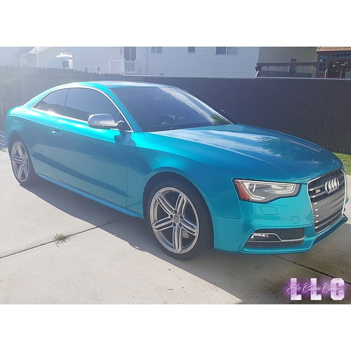sale retailer 0e8d3 ba3b9 Audi wrapped in 3M 1080-G356 Gloss Atomic Teal