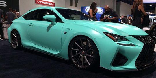 Lexus wrapped in Oracal 970 Matte Mint vinyl