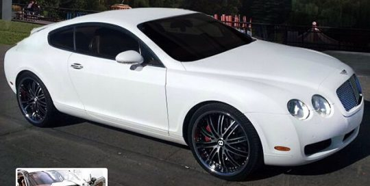 Bentley wrapped in Avery SW Matte White