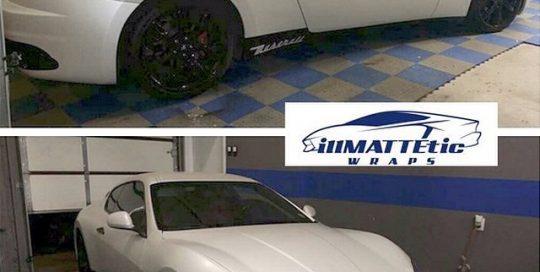 Maserati wrapped in 1080 Satin Pearl White