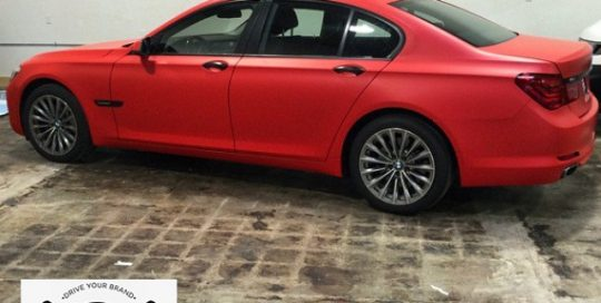 BMW wrapped in 3M 1080-M13 Matte Red
