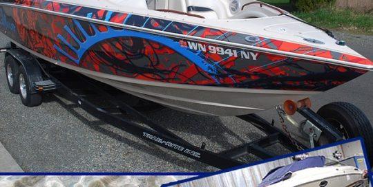 Boat wrapped in 180Cv3 vinyl
