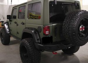 Jeep wrapped in 1080 Matte Military Green vinyl