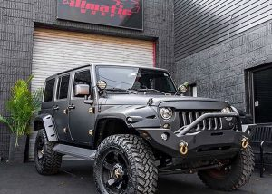 Jeep wrapped in 1080 Matte Deep Black vinyl