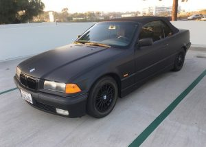 BMW wrapped in Avery SW900-180 Matte Black