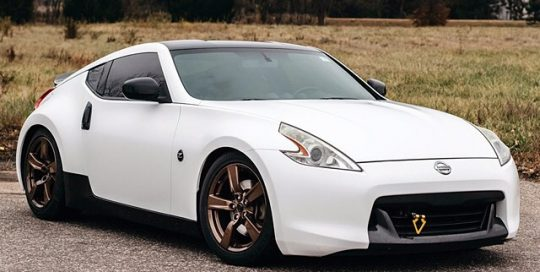 Nissan wrapped in 3M 1080-S10 Satin White