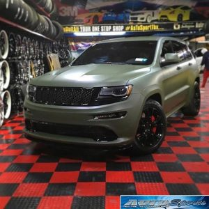 Jeep wrapped in 1080 Matte Military Green vinyl - Vinyl Wrap