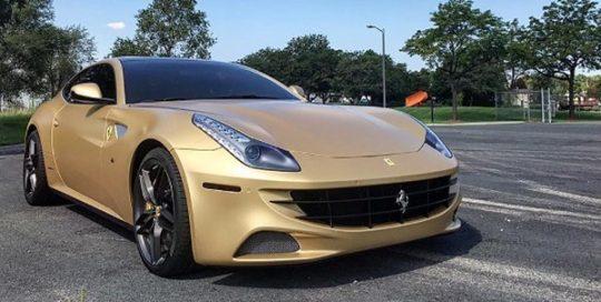 Ferrari FF wrapped in Orafol 970RA Matte Pyrite Metallic viny