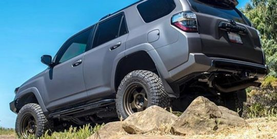 Toyota 4runner wrapped in Avery SW Matte Charcoal Metallic vinyl