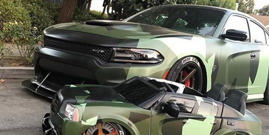 Dodge Charger wrapped in custom printed 3M IJ180Cv3 vinyl and 8520 overlaminate