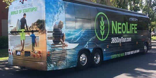 Commercial Bus wrapped in custom printed 3M IJ180mC vinyl with 8519 Luster overlaminate