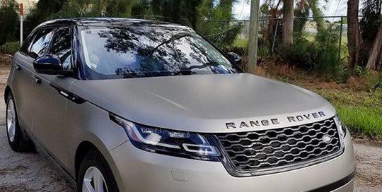 Range Rover wrapped in Matte Gray Aluminum vinyl