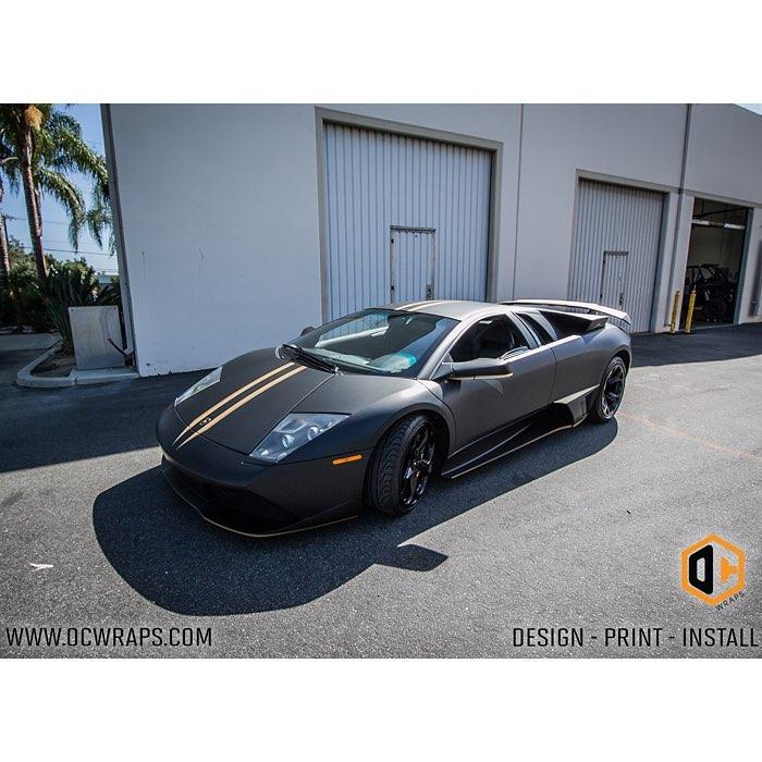 Lamborghini Murcielago Wrapped In Matte Deep Black Vinyl Orafol
