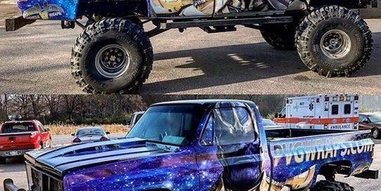 Chevrolet Truck wrapped in custom printed Arlon SLX vinyl with 3270 Gloss overlaminate