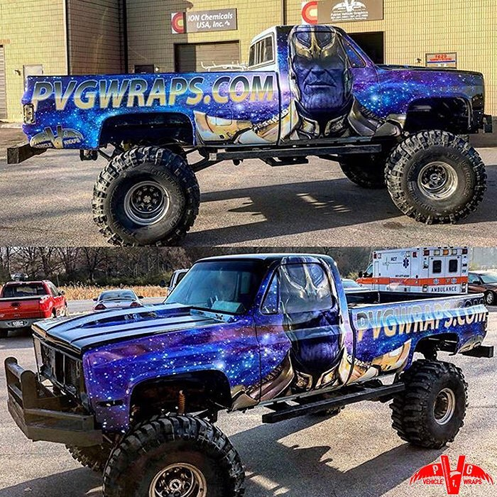 Chevrolet Truck wrapped in custom printed Arlon SLX vinyl with 3270 Gloss overlaminate