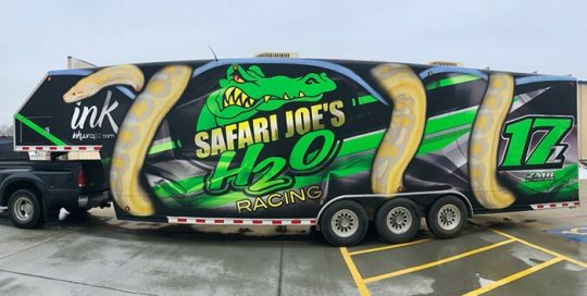 Commercial Trailer wrapped in custom printed 3M 40C vinyl with 8520 Matte overlaminate