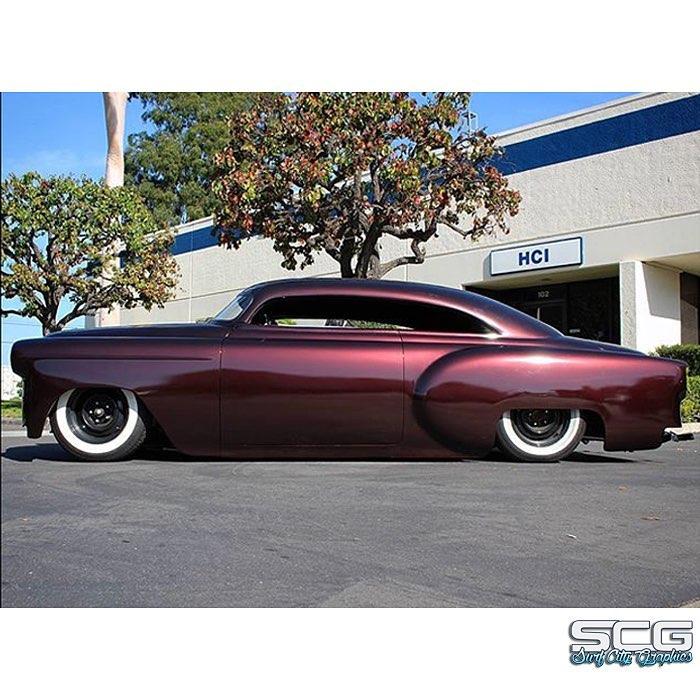 Chevrolet 53 wrapped in Gloss Black Rose vinyl