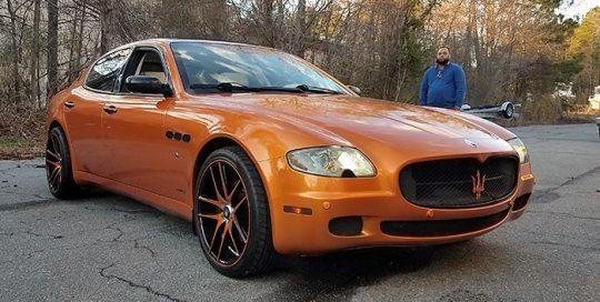 Maserati wrapped in Gloss Liquid Copper vinyl