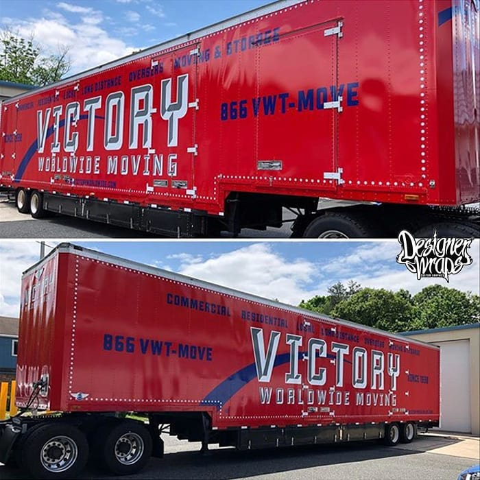 Commercial Semitrailerwrap wrapped in custom printed 3M IJ40C vinyl with 8508 Gloss overlaminate