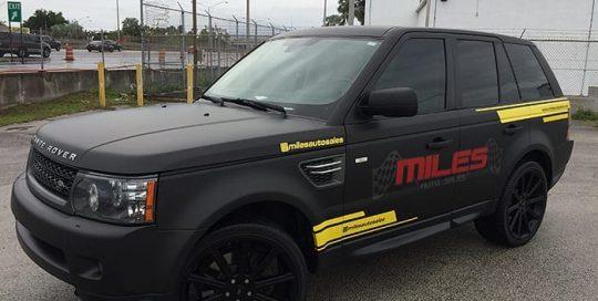 Range Rover wrapped in Matte Black vinyl
