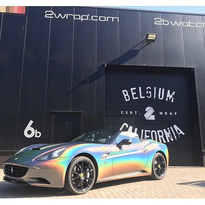 Ferrari California Wrapped In 3m Colorflip Gloss Psychedelic Shade