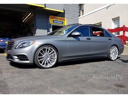 Mercedes Benz S-550 wrapped in Avery SW Matte Gunmetal Metallic vinyl