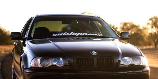 BMW 330-I Gloss Wicked Black/Purple vinyl