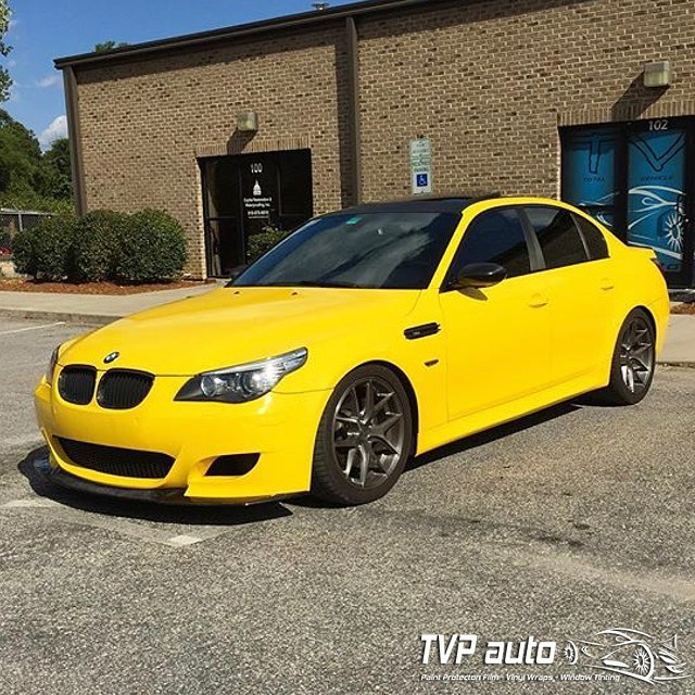 Bmw York Pa: BMW M5 Wrapped In Gloss Bright Yellow Vinyl
