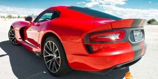 Dodge Viper wrapped in Avery SW Gloss Carmine Red vinyl
