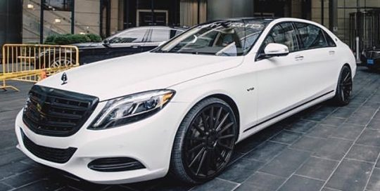 Maybach S600 wrapped in Avery SW Satin White vinyl