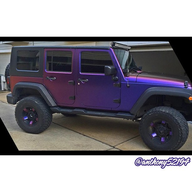 Jeep Wrangler Wrapped In Avery Colorflow Satin Roaring