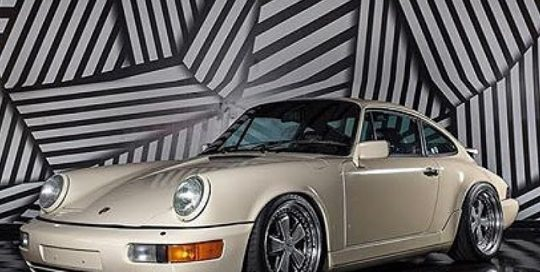 Porsche 964 wrapped in Orafol 970RA Gloss Papyrus vinyl