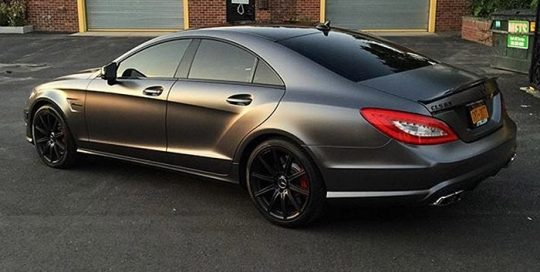 Mercedes Benz CLS-63 wrapped in Satin Dark Gray vinyl