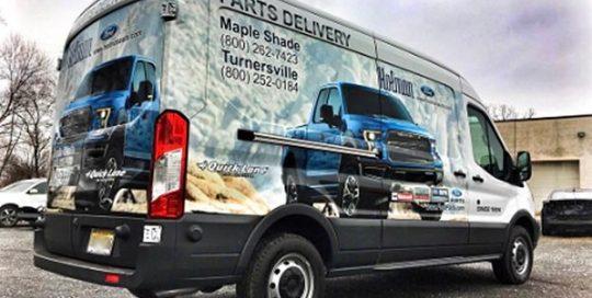 Ford Transit Commercial Van wrapped in custom printed Avery 1105EZRS vinyl