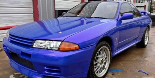 Skyline wrapped in ColorFlip Gloss Electric Wave Purple/Blue shade shifting vinyl