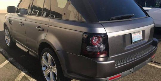 Range Rover wrapped in Satin Dark Gray vinyl