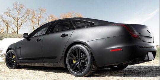 Jaguar XJ wrapped in Matte, Satin and Gloss Black vinyls