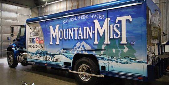 Trailer Truck Commercial wrapped in custom printed 3M IJ180Cv3 vinyl