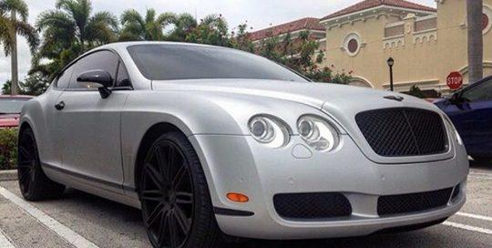 Bentley Series wrapped in Avery SW Matte Silver Metallic vinyl
