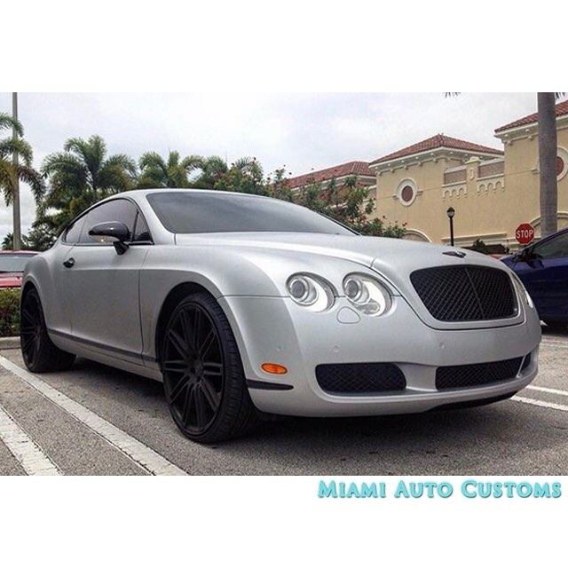 Matte Silver Bentley Awesome