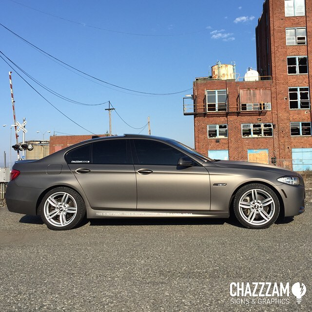 Bmw Xi: BMW 535-XI Wrapped In Avery SW Matte Metallic Grigio Vinyl