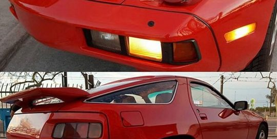 Porsche 928 wrapped in Avery SW Gloss Carmine Red vinyl