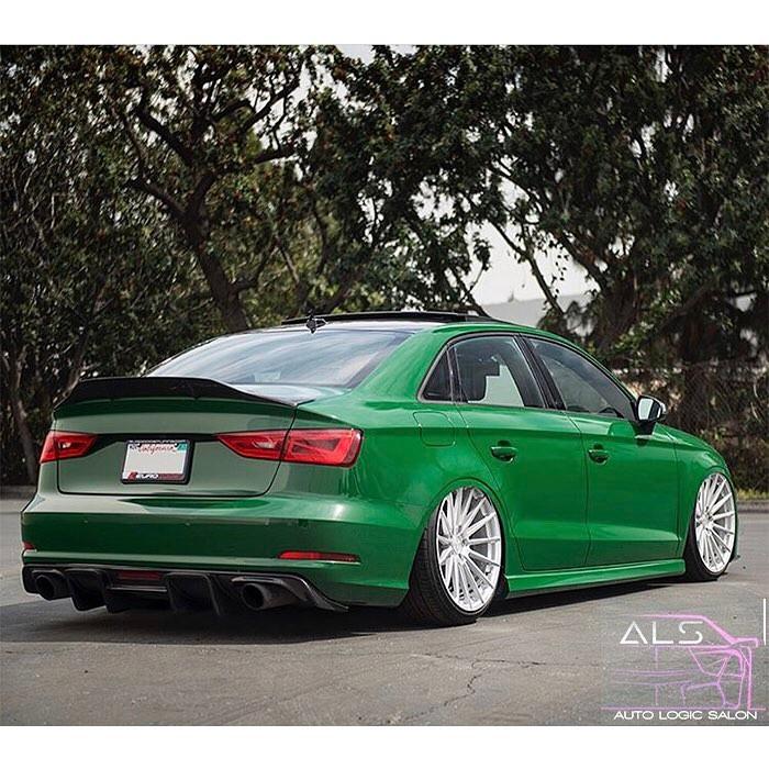Audi Rs3 Wrapped In Avery Sw Gloss Dark Green Vinyl Vinyl Wrap