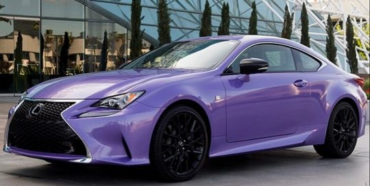 Lexus RC200 wrapped in Avery SW Metallic Diamond Purple vinyl