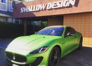 Maserati GTMC wrapped in Avery SW Matte Apple Green Metallic vinyl