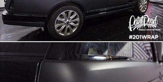 Range Rover wrapped in Avery SW Matte Black vinyl
