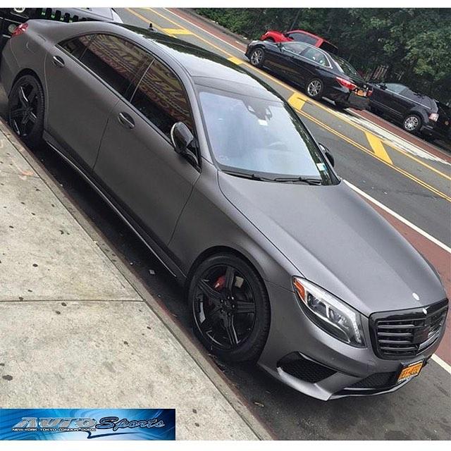 Mercedes Benz E63 Wrapped In Matte Dark Gray Vinyl