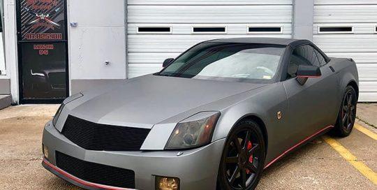 Cadillac XLR wrapped in Avery SW Matte Gunmetal Metallic vinyl